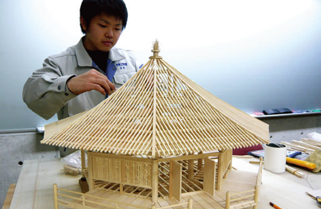 卒業設計の軸組模型